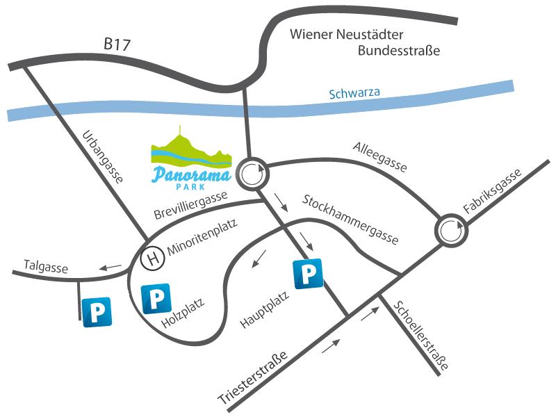Anfahrtsplan Panoramapark Neunkirchen